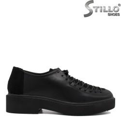 Дамски обувки с връзки на нисък ток -35402