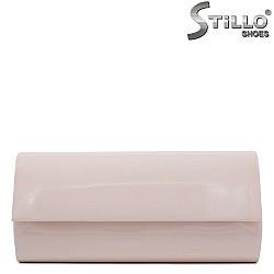 Абитуриентска чанта в розов лак - 31968