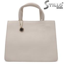 Бежова елегантна чанта - 32349