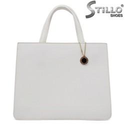 Бяла дамска елегантна чанта - 32351