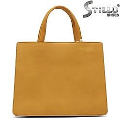 Дамска чанта в цвят горчица - 32353