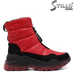 Червени апрески на спортно ходило - 34026