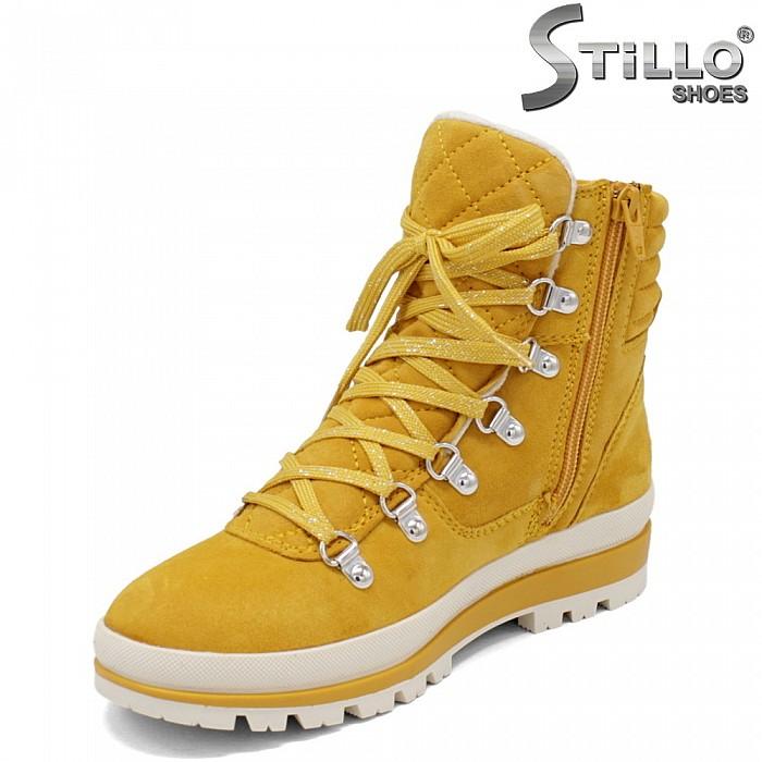 Жълти дамски кубинки Tamaris - 34108
