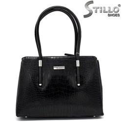 Дамска чанта с крокодилска щампа - 34145