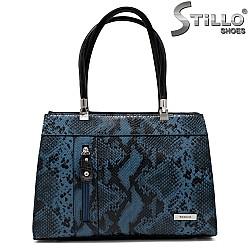 Елегантна дамска чанта със змийска щампа - 34147