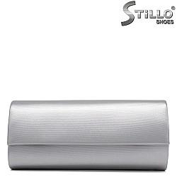 Абитуриентска сребърна чанта тип плик - 34175