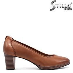 Кафяви обувки  Tamaris на среден ток - 34238