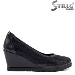 Сини обувки на клин ток - 34294