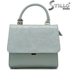 Дамска чанта в цвят мента - 34339