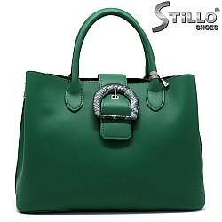 Зелена дамска чанта - 34351