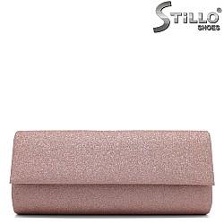 Малка абитуриентска чанта в розов брокат - 34353