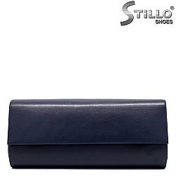 Малка абитуриентска чанта в синя кожа - 34354