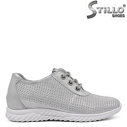 Спортно-елегантни обувки с връзки - 34362