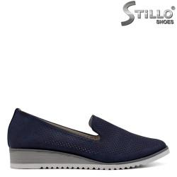 Сини перфорирани ежедневни обувки - 34428