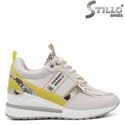 Мултиколор обувки на платформа със змийски принт - 34464