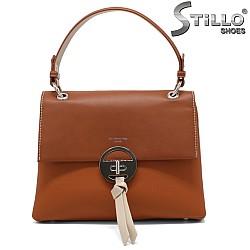 Чанта в цвят камел - 34486