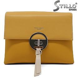 Мини дамска чанта в цвят горчица - 34492