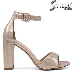 Официални сандали в перлено златно на висок ток - 34501