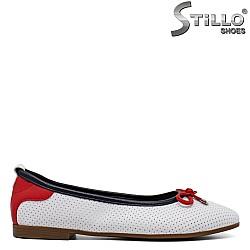 Бели пролетни пантофки - 34598
