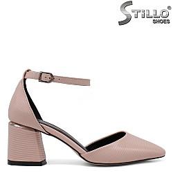 Розови отворени обувки на среден ток - 34600