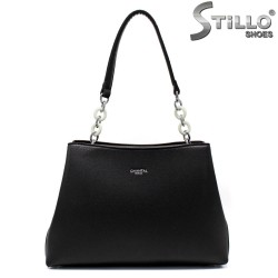 Модна дамска чанта в черно - 34631