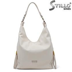 Дамска чанта в цвят екрю - 34642