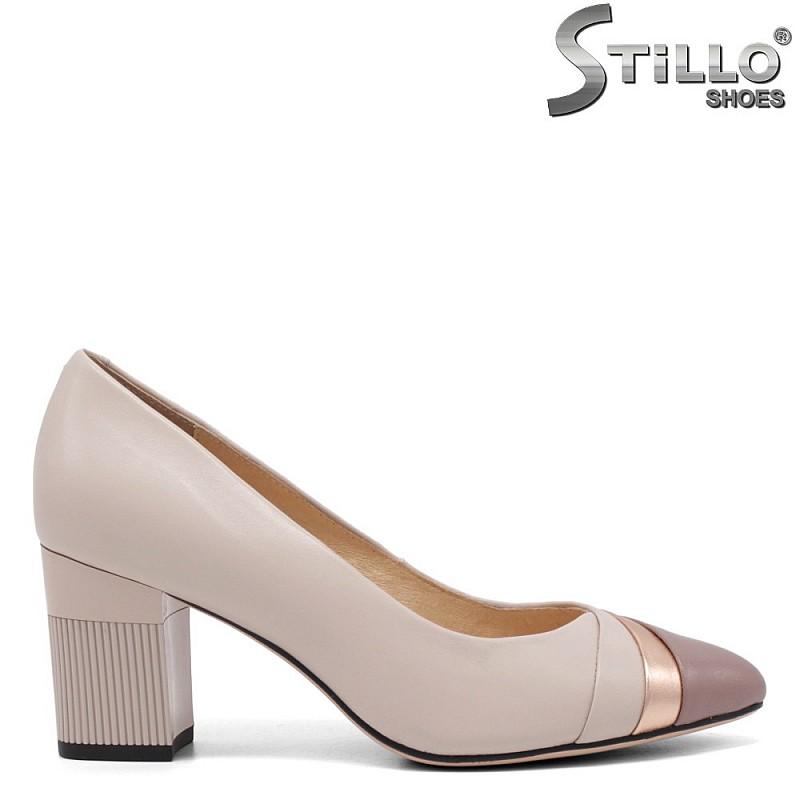 Розови обувки на среден ток - 34646
