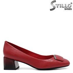Червени обувки с преливащ ток- 34655