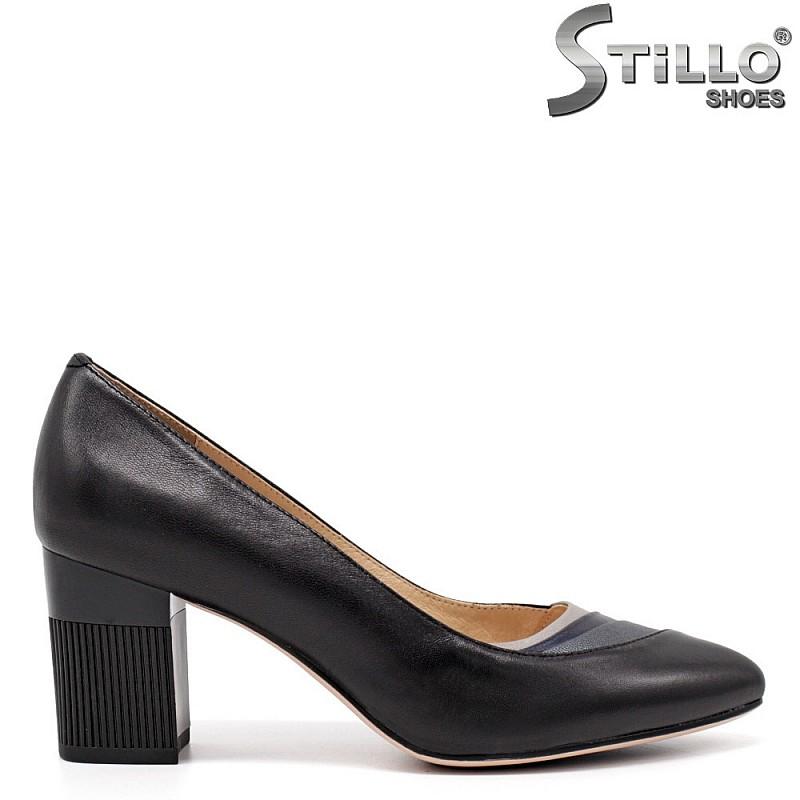 Официални обувки на релефен ток - 34663