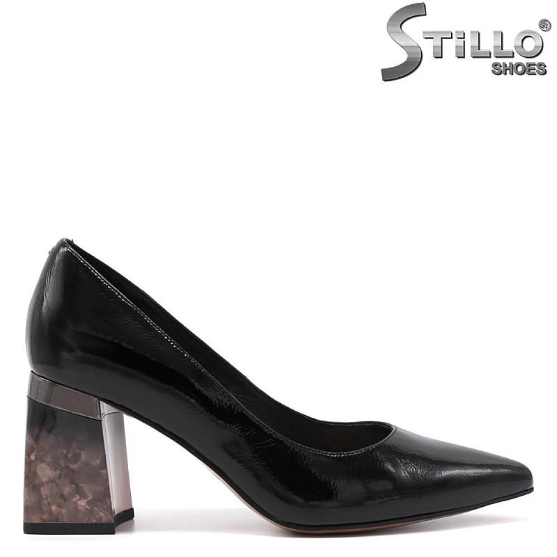 Лачени обувки с преливащ ток - 34747