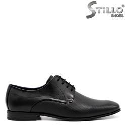 Черни обувки Bugatti с връзки - 34799