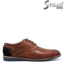 Обувки Bugatti от естествена кафява кожа - 34800