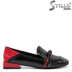 Фешън обувки в червено и черно - 34814