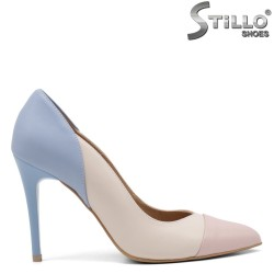 Мултиколор обувки на висок тънък ток - 34830