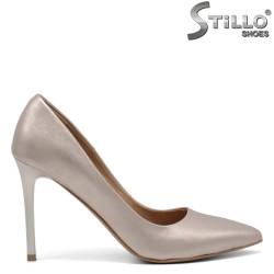 Златни официални обувки от естествена кожа - 34831