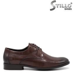 Кафяви мъжки обувки с връзки - 34862