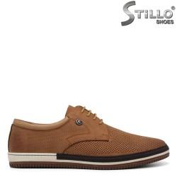 Мъжки бежови обувки с перфорация - 34863