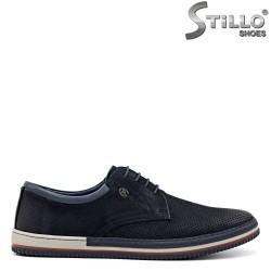 Мъжки спортни обувки от син набук - 34867