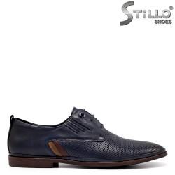 Официални обувки в естествена синя кожа - 34871