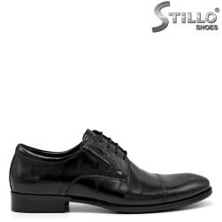 Мъжки черни обувки в естествена кожа - 34872