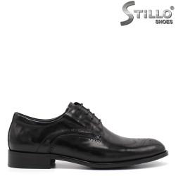 Кожени мъжки официални обувки - 34873