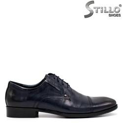 Тъмносини мъжки обувки естествена кожа - 34876