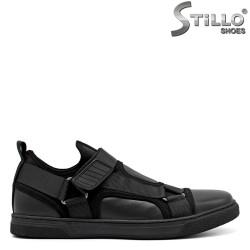 Спортни мъжки обувки в кожа и текстил - 34879