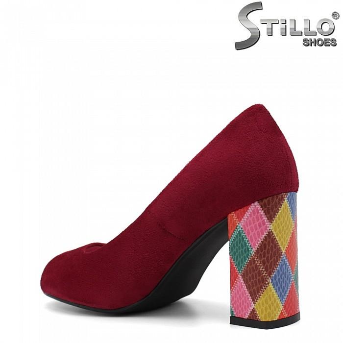 Цикламени обувки с отворени пръсти - 34884