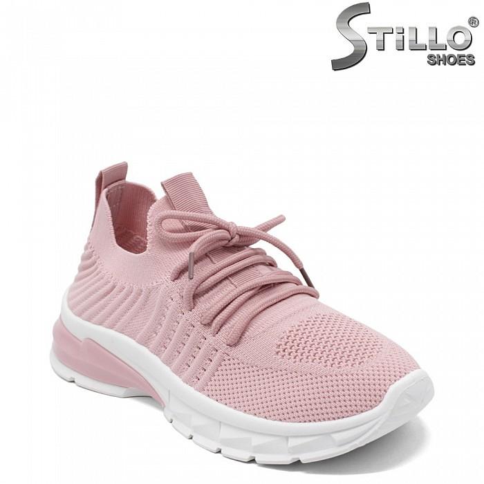 Розови маратонки на спортно ходило - 34889