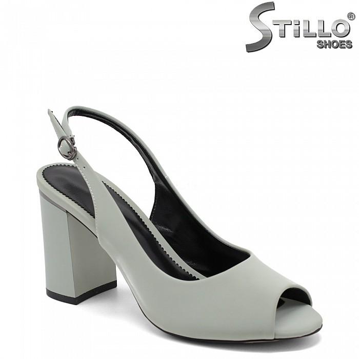 Дамски сандали в красив пастелно зелен цвят - 34956