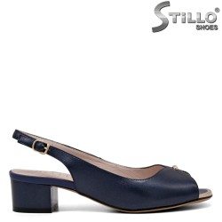 Тъмносини сандали на среден ток - 34970