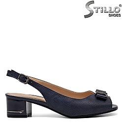 Тъмносини сандали с отворена пета и пръсти - 34983