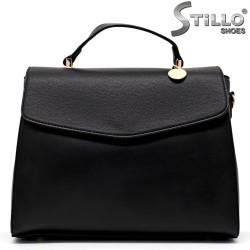 Дамска чанта от черна еко кожа - 34993