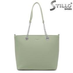 Зелена дамска чанта Firenze - 35008